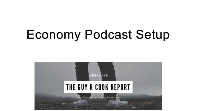 Economy podcast setup.  The hardware/software used to make episodes of The Guy R Cook Report and other episodes.